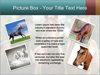 Three Beautiful Horses PowerPoint Template - Slide 24