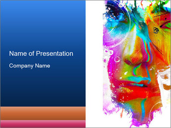 Abstract Face Art PowerPoint Template - Slide 1