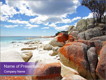 Beach In Tasmania PowerPoint Template - Slide 1