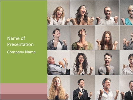 Funny Photo Collage PowerPoint Template