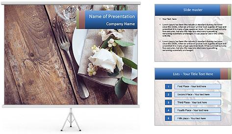 Banquet Decor PowerPoint Template
