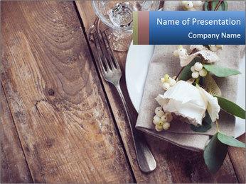 Banquet Decor PowerPoint Template - Slide 1