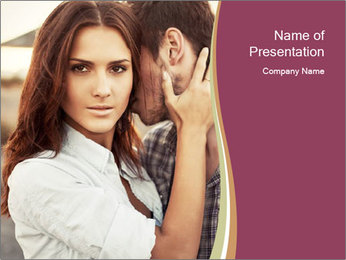 Glamour Couple PowerPoint Template - Slide 1