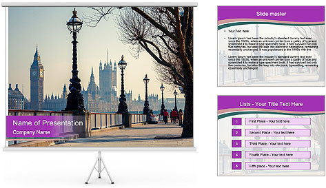 British Historical City PowerPoint Template