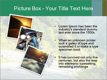 Bikers On Extreme Road PowerPoint Template - Slide 17