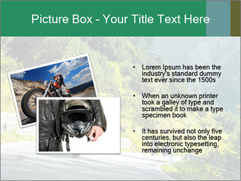 Bikers On Extreme Road PowerPoint Template - Slide 20