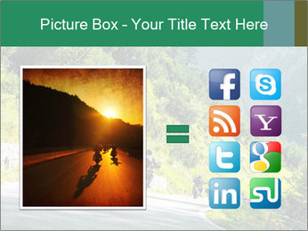 Bikers On Extreme Road PowerPoint Template - Slide 21