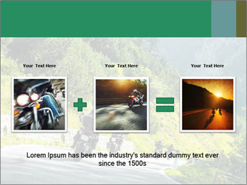 Bikers On Extreme Road PowerPoint Template - Slide 22