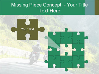 Bikers On Extreme Road PowerPoint Template - Slide 45