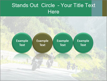 Bikers On Extreme Road PowerPoint Template - Slide 76