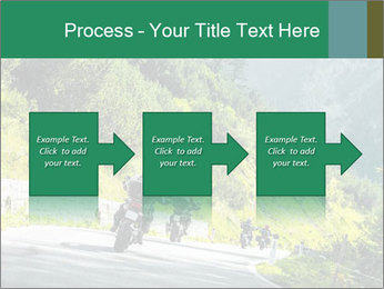 Bikers On Extreme Road PowerPoint Template - Slide 88