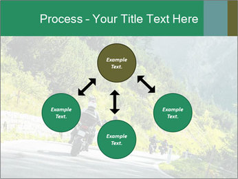Bikers On Extreme Road PowerPoint Template - Slide 91