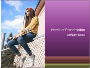 Depressed Girl PowerPoint Template
