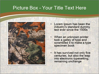Forest Military Camouflage Fence PowerPoint Template - Slide 13