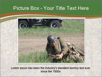 Forest Military Camouflage Fence PowerPoint Template - Slide 15