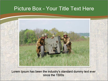 Forest Military Camouflage Fence PowerPoint Template - Slide 16