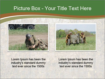 Forest Military Camouflage Fence PowerPoint Template - Slide 18