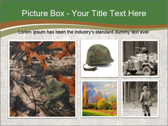 Forest Military Camouflage Fence PowerPoint Template - Slide 19