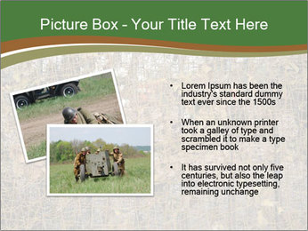 Forest Military Camouflage Fence PowerPoint Template - Slide 20