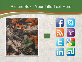 Forest Military Camouflage Fence PowerPoint Template - Slide 21