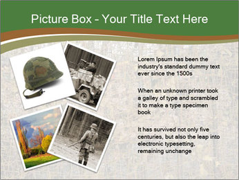 Forest Military Camouflage Fence PowerPoint Template - Slide 23