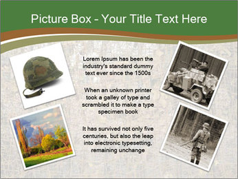 Forest Military Camouflage Fence PowerPoint Template - Slide 24
