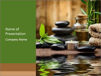 Zen Spa Design PowerPoint Template - Slide 1