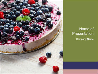 Berry Cake PowerPoint Template - Slide 1