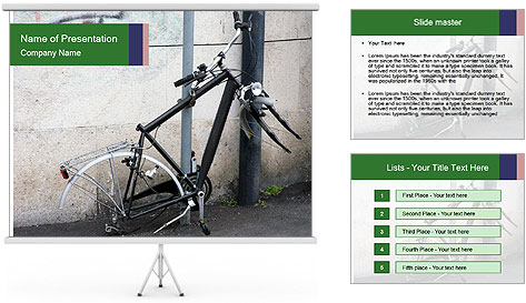 Bike Robbery PowerPoint Template