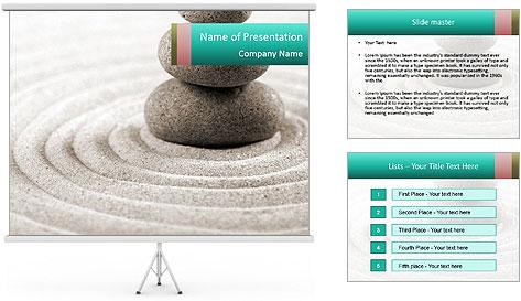 Peaceful Zen Decor PowerPoint Template