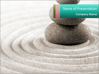 Peaceful Zen Decor PowerPoint Template