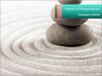 Peaceful Zen Decor PowerPoint Template - Slide 1