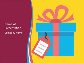 Gift Box Vector PowerPoint Template - Slide 1