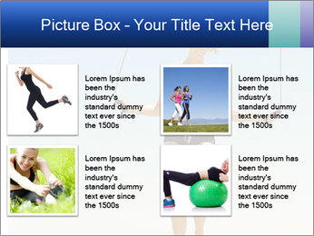 Woman Jumping With Rope PowerPoint Templates - Slide 14
