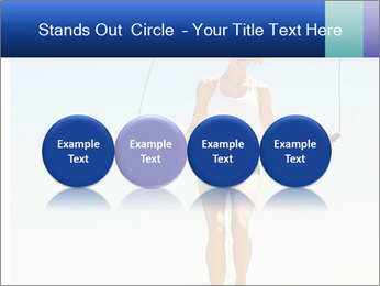 Woman Jumping With Rope PowerPoint Templates - Slide 76