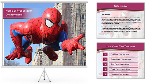 Spiderman At Parade PowerPoint Template