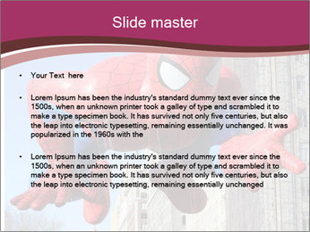 Spiderman At Parade PowerPoint Template - Slide 2