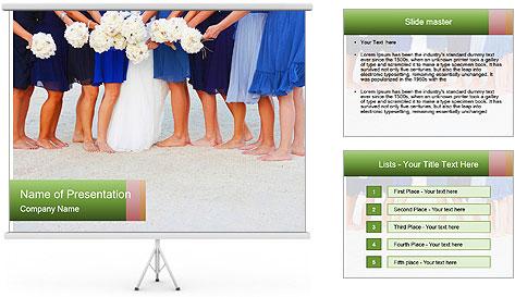 Wedding On Beach PowerPoint Template