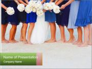 Wedding On Beach PowerPoint Template