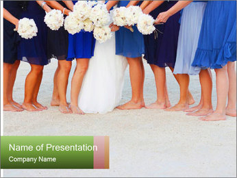 Wedding On Beach PowerPoint Templates - Slide 1