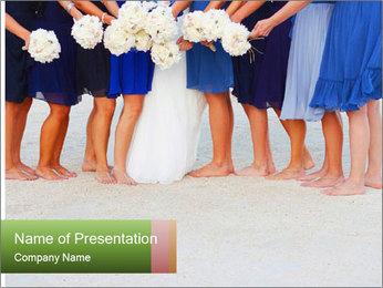 Wedding On Beach PowerPoint Template - Slide 1