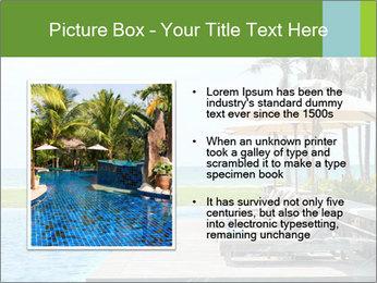 Sunbed Near Pool PowerPoint Template - Slide 13