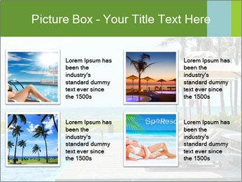 Sunbed Near Pool PowerPoint Template - Slide 14