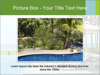Sunbed Near Pool PowerPoint Template - Slide 15