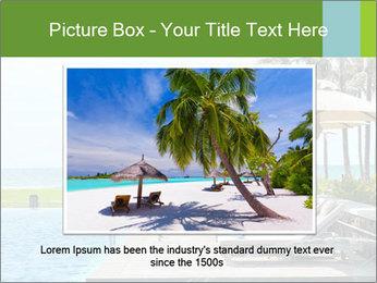 Sunbed Near Pool PowerPoint Template - Slide 16