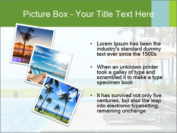Sunbed Near Pool PowerPoint Template - Slide 17