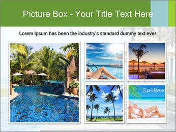 Sunbed Near Pool PowerPoint Template - Slide 19