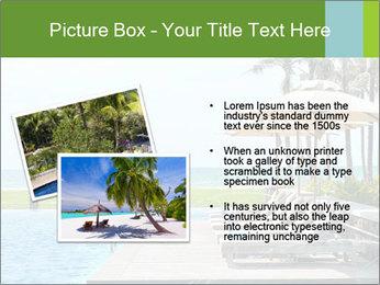 Sunbed Near Pool PowerPoint Template - Slide 20
