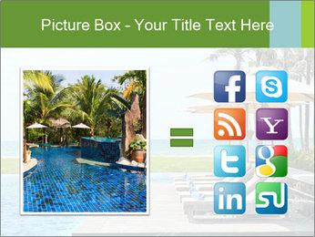 Sunbed Near Pool PowerPoint Template - Slide 21