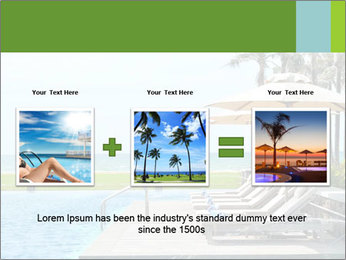 Sunbed Near Pool PowerPoint Template - Slide 22